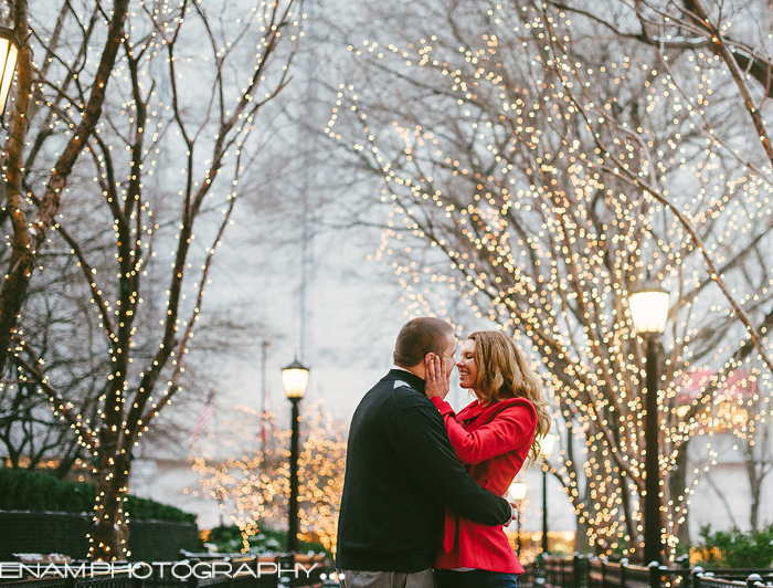 Winter Engagement Pictures in Chicago with Jessica & Daniel - Chicago Wedding Photographers