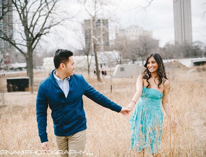 Chicago Engagement Pictures with Pinky & Donny - Vietnamese-Indian Wedding Chicago
