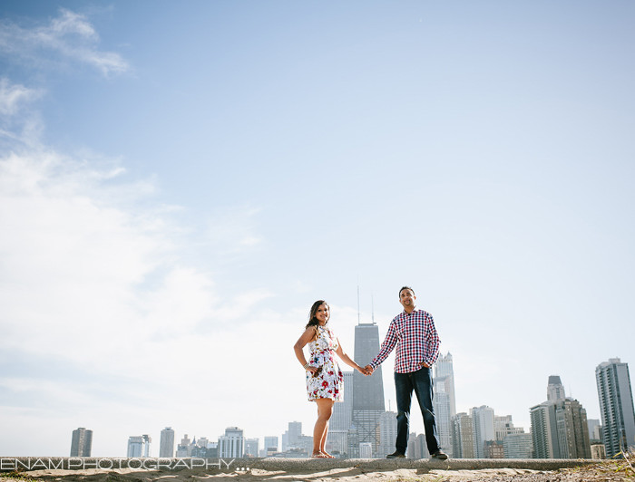 Chicago Indian Engagement Pictures with Puja & Rajan