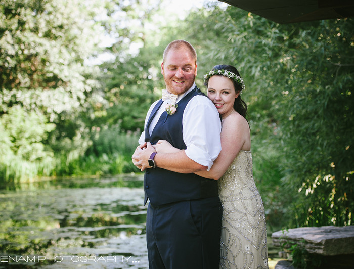 Lily Pool Chicago Wedding - Erin & Chris's sneak peek