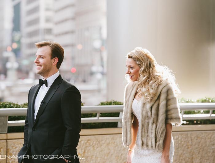 Cafe Brauer Winter Wedding with Stephanie & Chris
